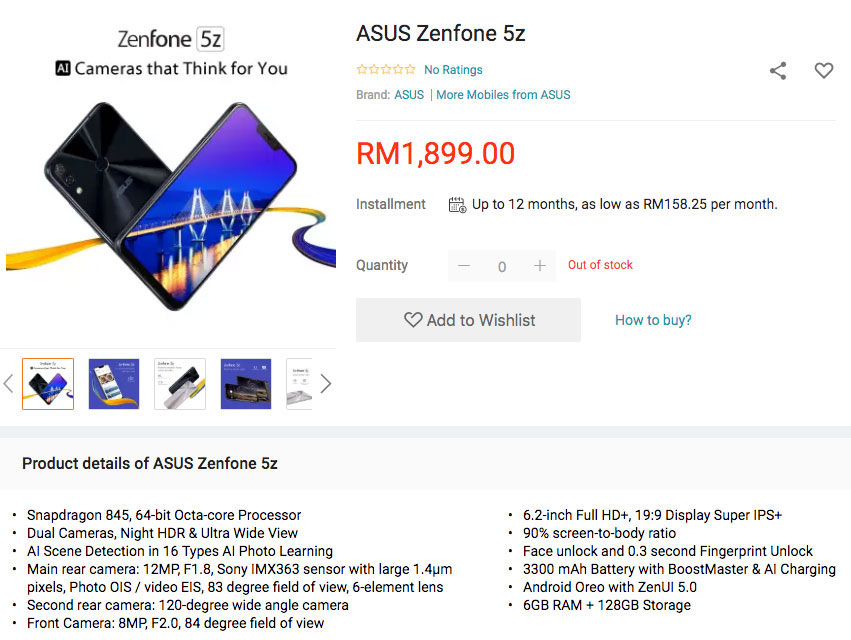 6GB ASUS ZenFone 5Z Price + Availability LEAKED!