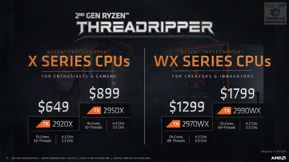 The 2nd Gen Threadripper Processor Family Revealed!