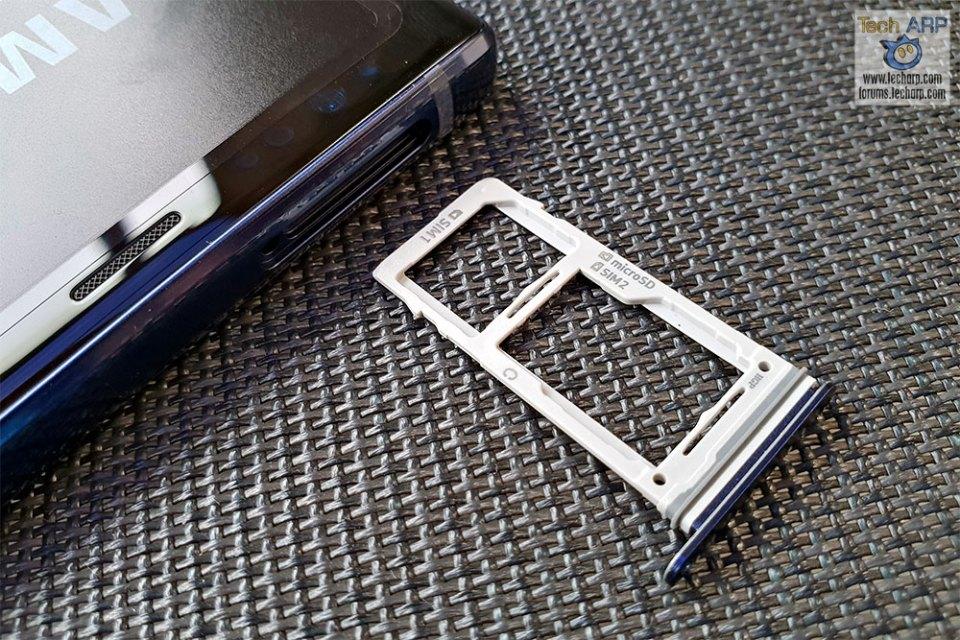 Samsung Galaxy Note9 SIM tray
