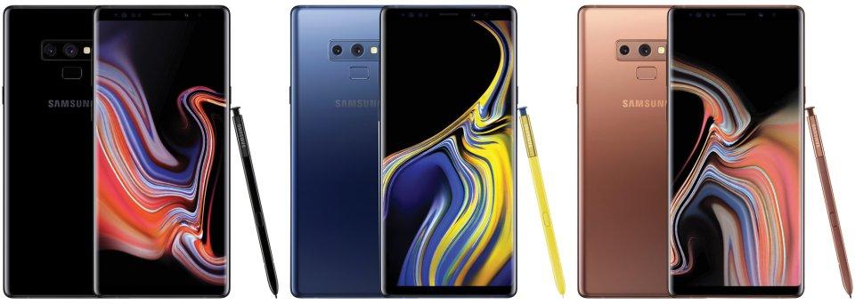 Samsung Galaxy Note9 colours Evan Blass