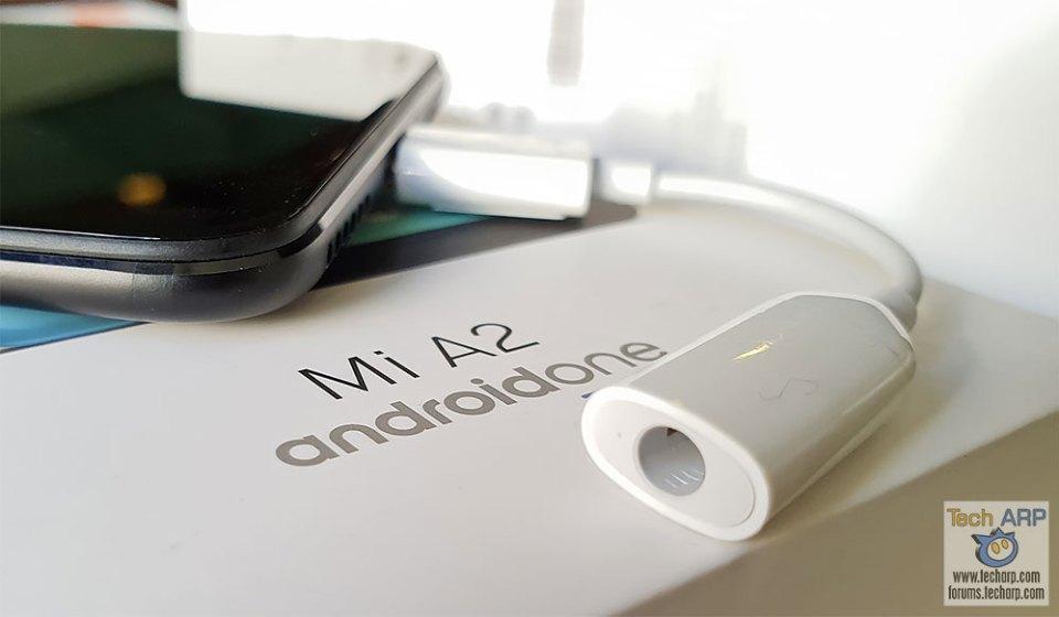 Xiaomi Mi A2 audio adaptor