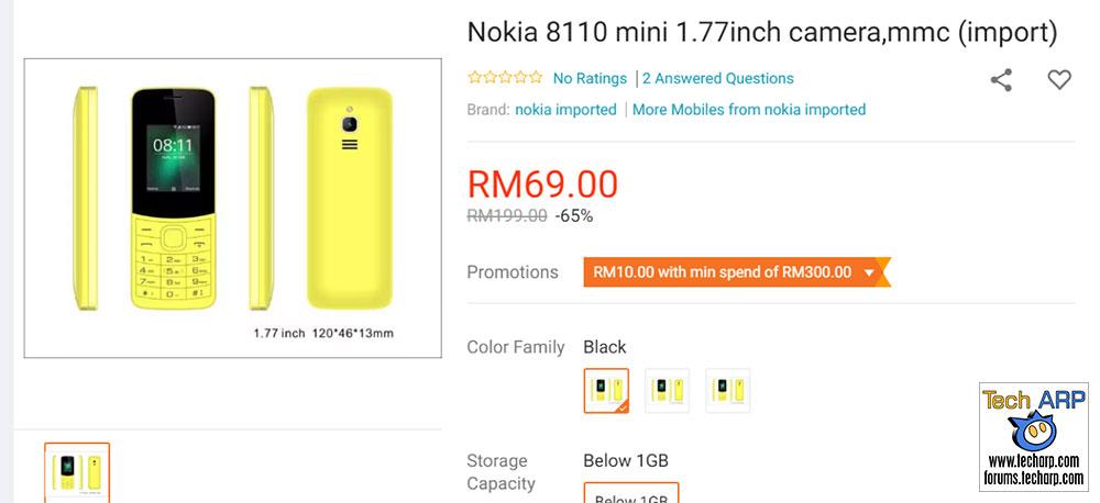 Fake Nokia 8110 banana phone example