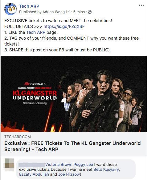 FREE Tickets To The KL Gangster Underworld Screening!