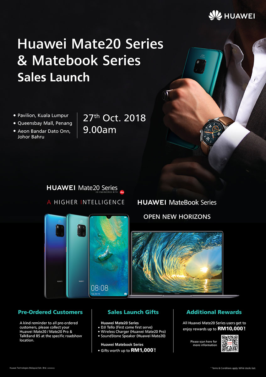 HUAWEI Mate20 Sales Launch + Roadshow Details Revealed!