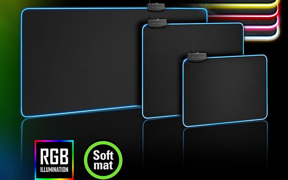 The Sharkoon 1337 RGB Gaming Mouse Mats Unveiled!