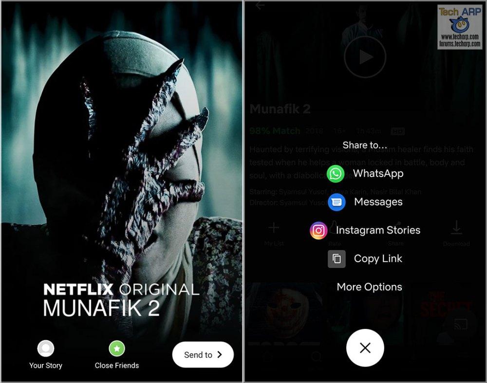 Netflix Instagram Stories Android