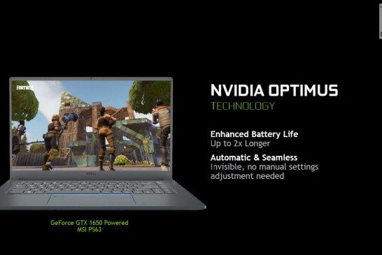 NVIDIA GeForce GTX 1660 Ti + 1650 for laptops slide