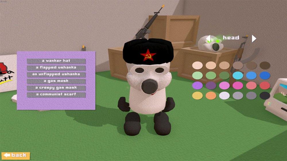 Scremunism customisation screen