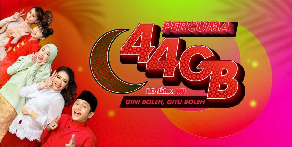 The 2019 Hotlink Raya Promo Gives You 44GB FREE DATA!