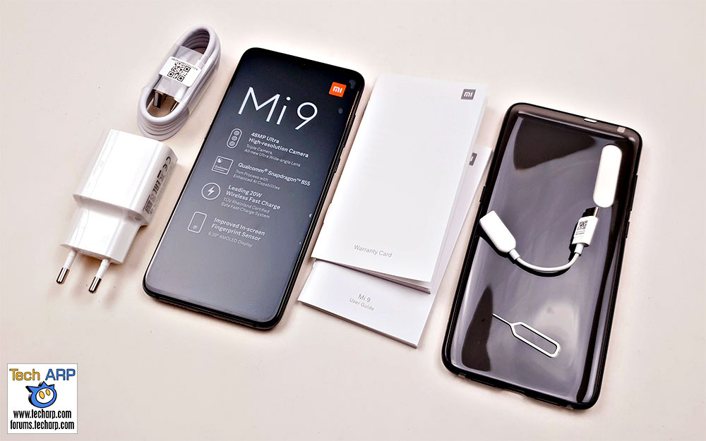 Xiaomi Mi 9 box content