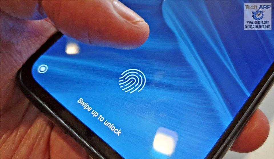 Xiaomi Mi 9 fingerprint sensor