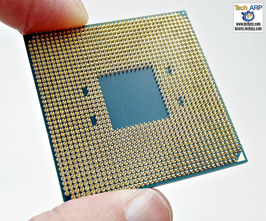 AMD Ryzen 7 3700X CPU underside
