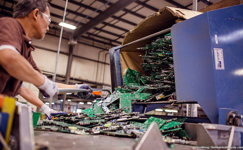BAN recycling electronics