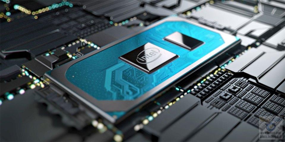 10th Gen Intel mobile processor on motherboard