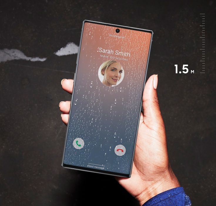 Samsung Galaxy Note 10 IP68 water resistance