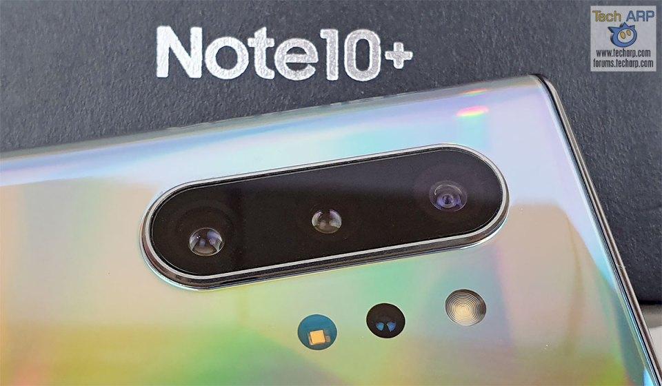 Samsung Galaxy Note 10 Plus quad cameras