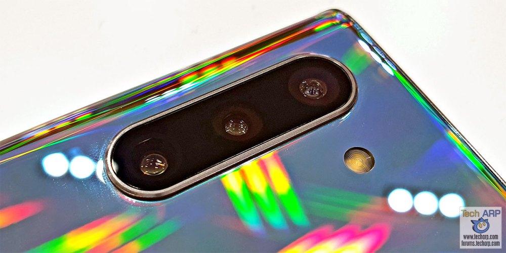 Samsung Galaxy Note 10 main cameras