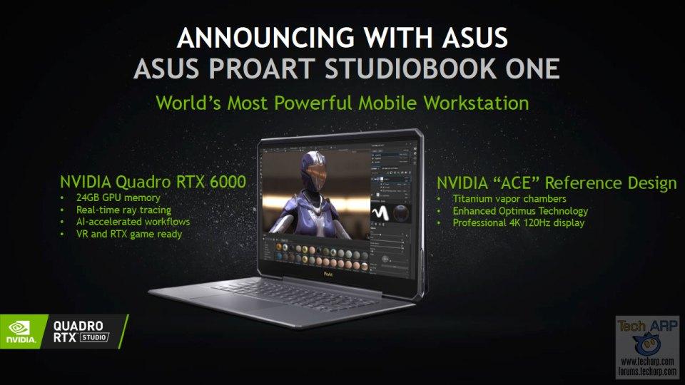 ASUS ProArt StudioBook One slide