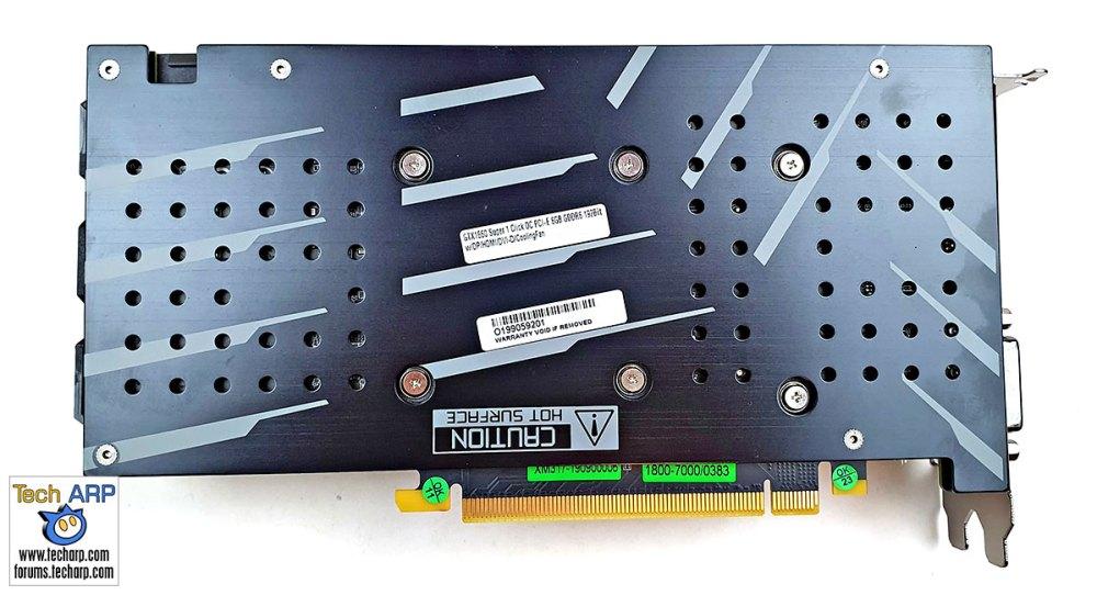 GALAX GeForce GTX 1660 SUPER card back