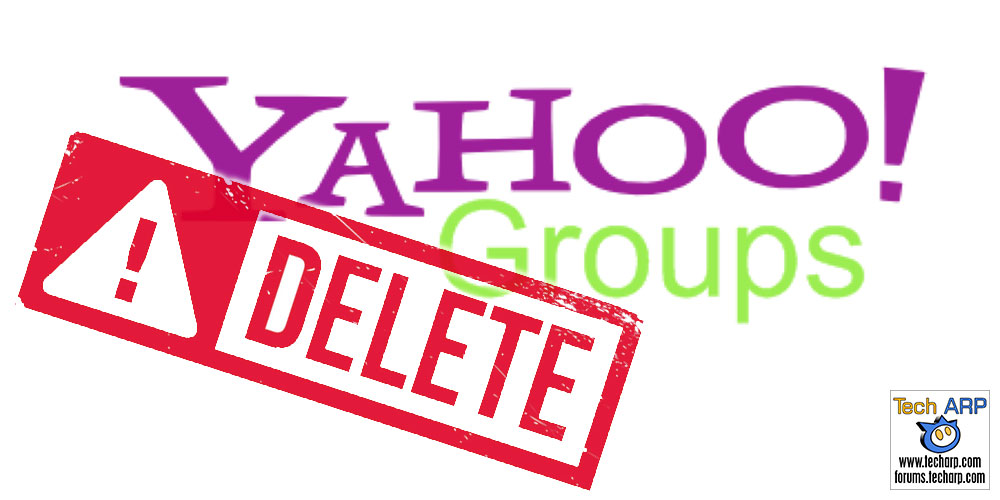 Yahoo Groups To Delete All User Content! Download 'Em Now!