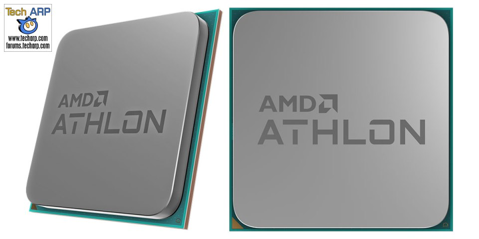 AMD Athlon 3000G front and side