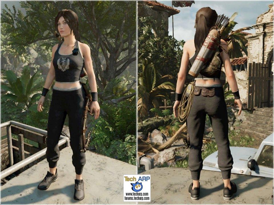 Croft Fitness costume for Lara Croft