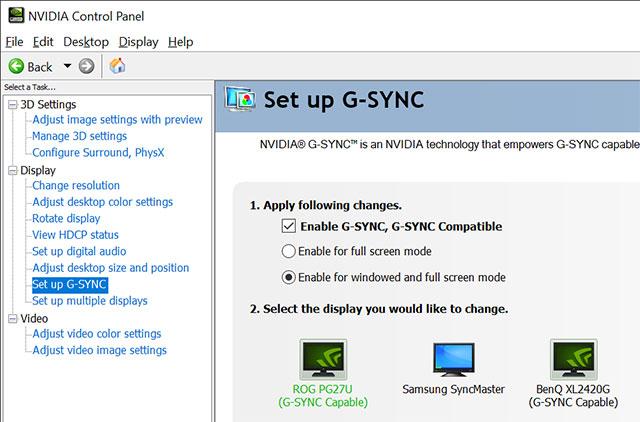 NVIDIA GSYNC setup