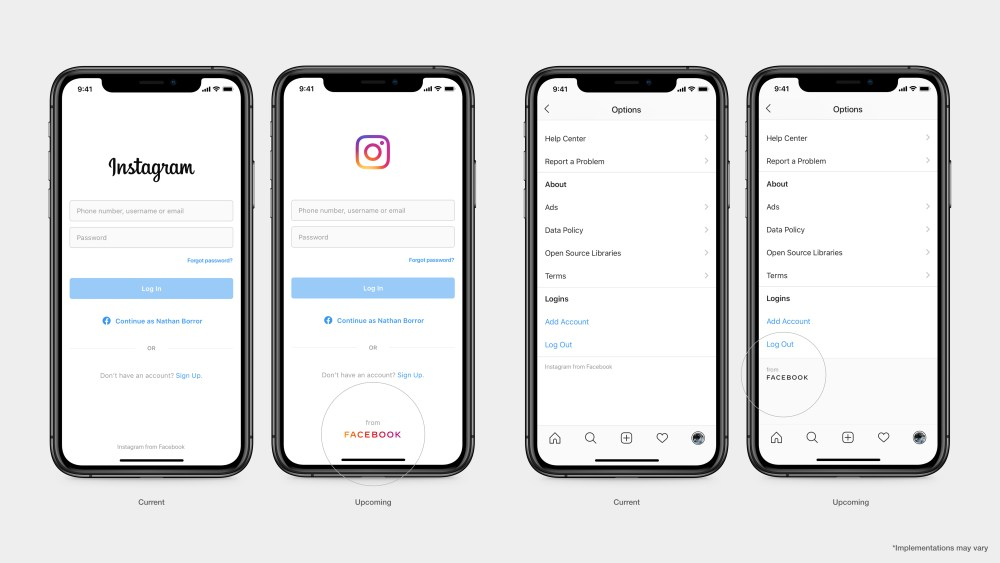 New Instagram Product Screen