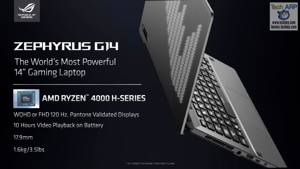Amd Ryzen 7 4800h 8c 16t High Performance Mobile Apu Tech Arp