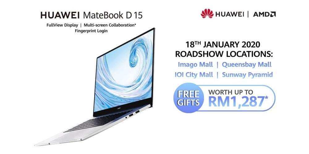 HUAWEI MateBook D 15 (Ryzen) Malaysia Roadshow Offer!