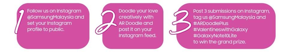 Samsung AR Doodle contest steps