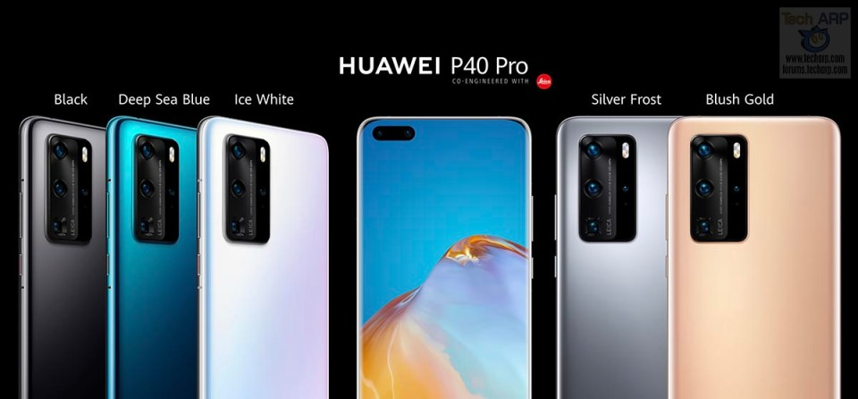 HUAWEI P40 Pro colour options