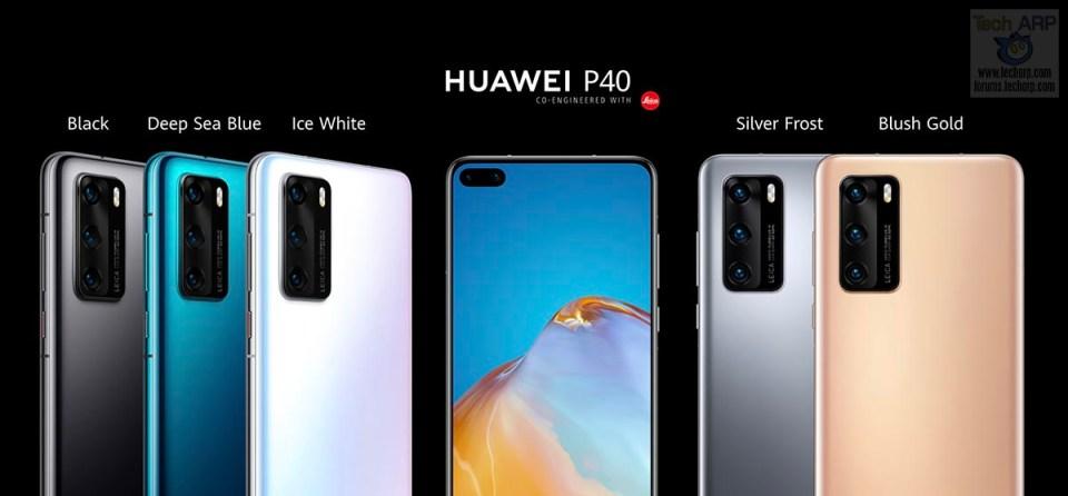 HUAWEI P40 colour options