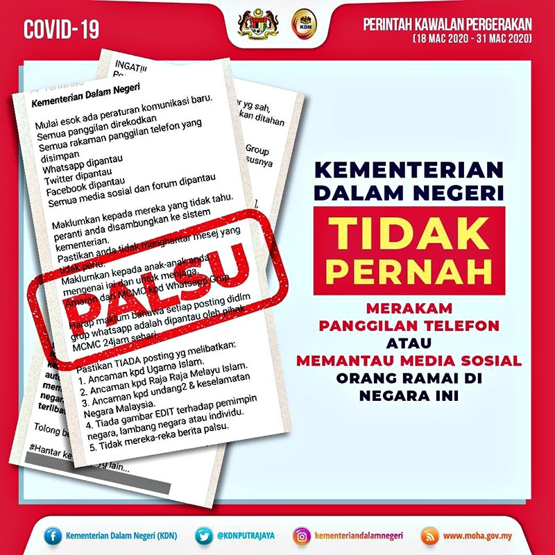 Social media monitored COVID19 debunked Malaysia