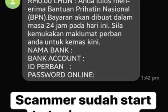 Bantuan Prihatin Nasional Scam 02