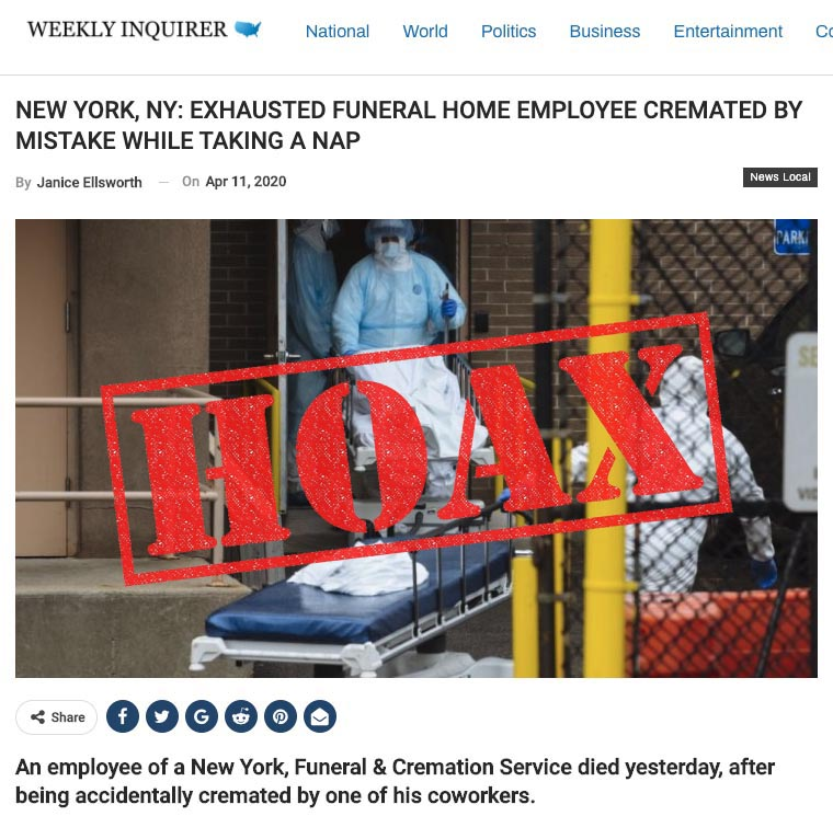 Fact Check : Funeral Home Accidentally Cremated Employee!