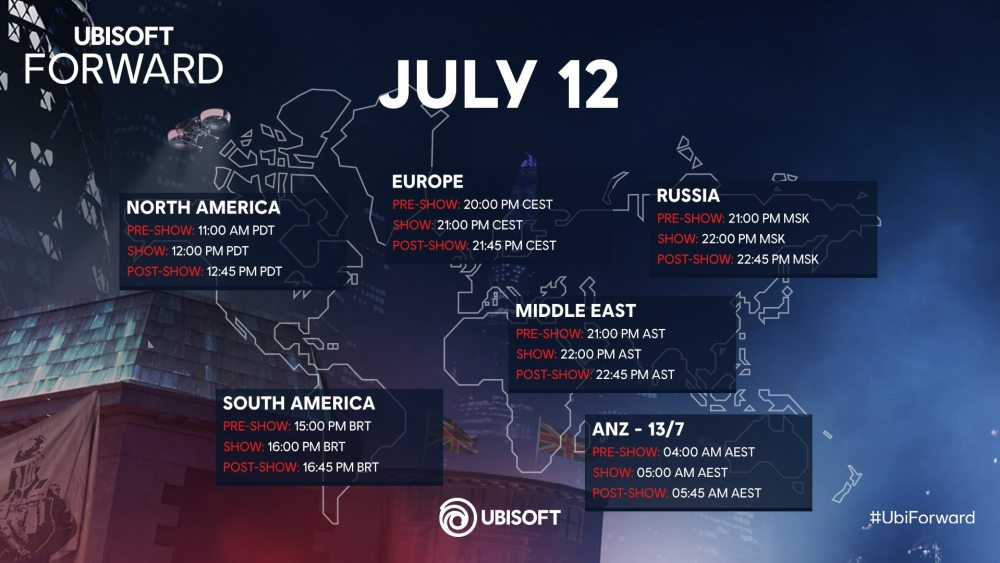 Ubisoft Reveal Forward Timing Map