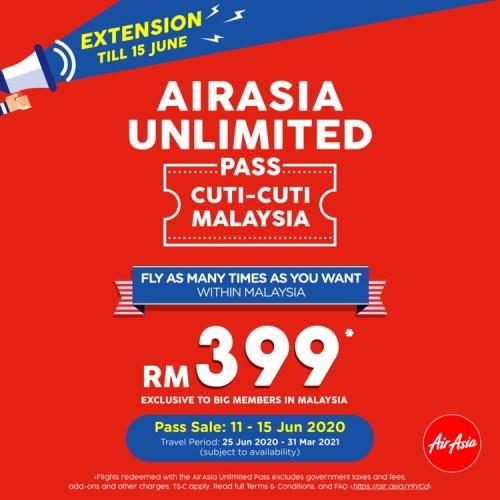 AirAsia Unlimited Pass Cuti-Cuti Malaysia promo 02