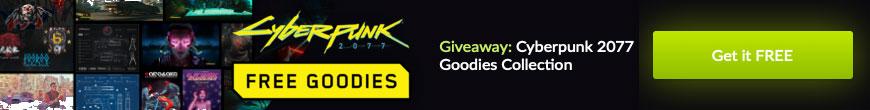 Cyberpunk 2077 free goodies banner