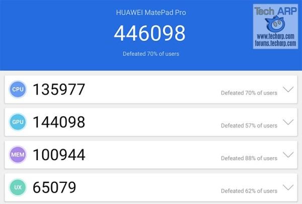 HUAWEI MatePad Pro AnTuTu results
