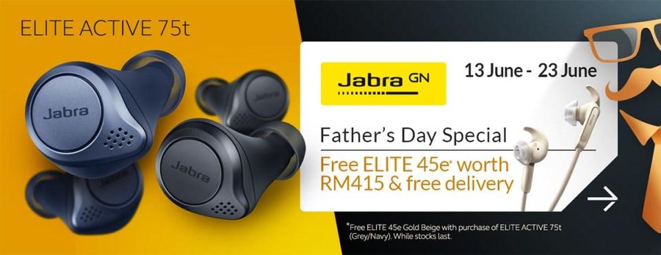 Jabra Elite 75t Father Day deal