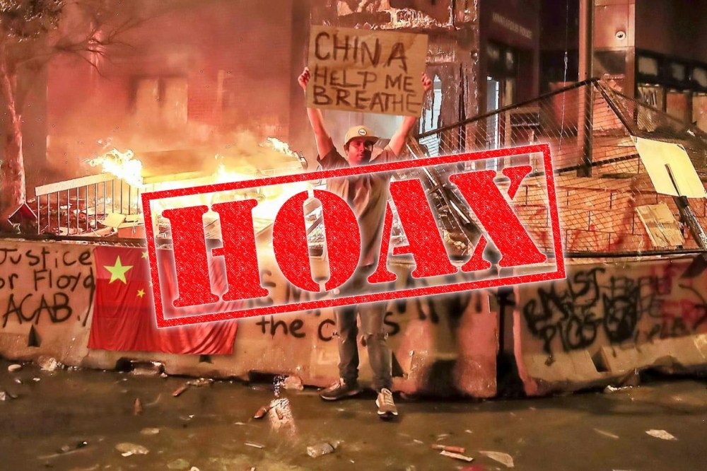 US Protestors Asking China For Help hoax 01