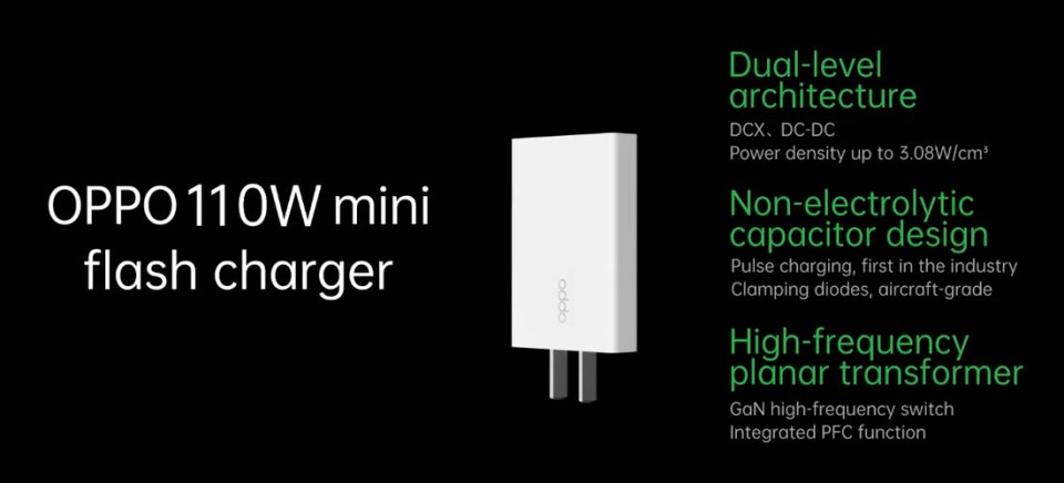 110W OPPO mini flash charger