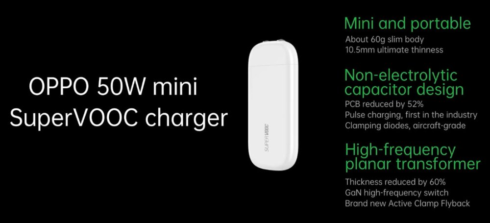 50W OPPO mini SuperVOOC Charger