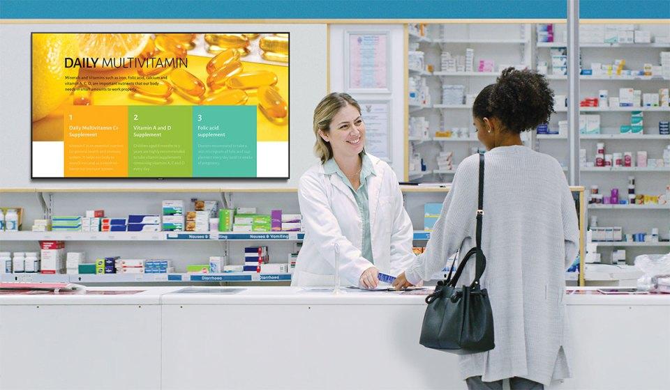 Samsung Business TV 2020 Drugstore