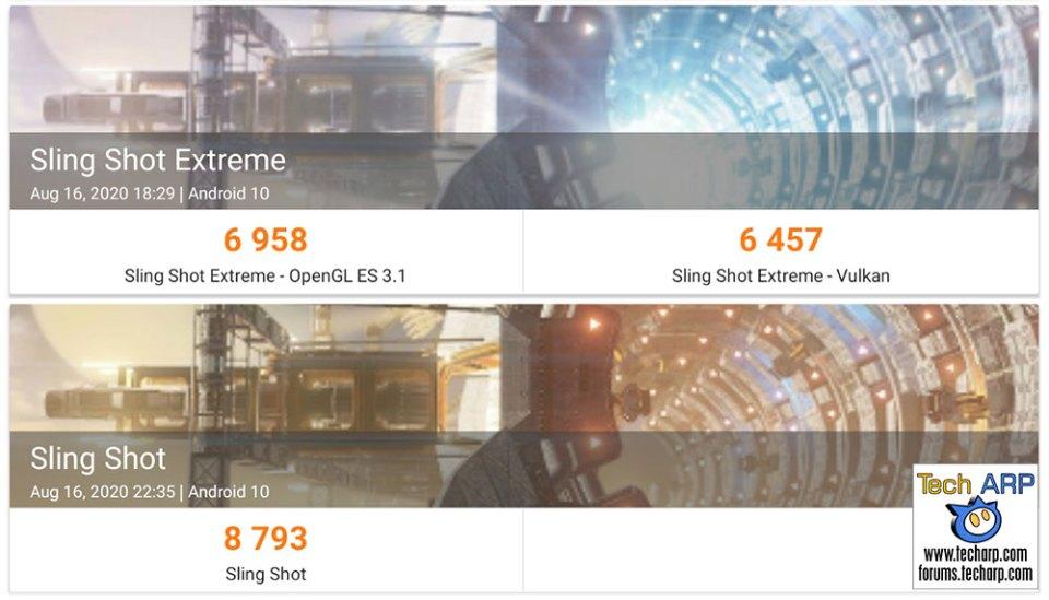Samsung Galaxy Tab S7 Plus 3DMark results
