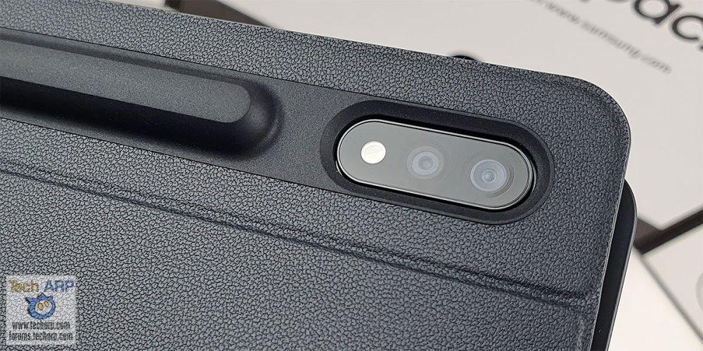 Samsung Galaxy Tab S7 Plus Book Cover Keyboard camera bump