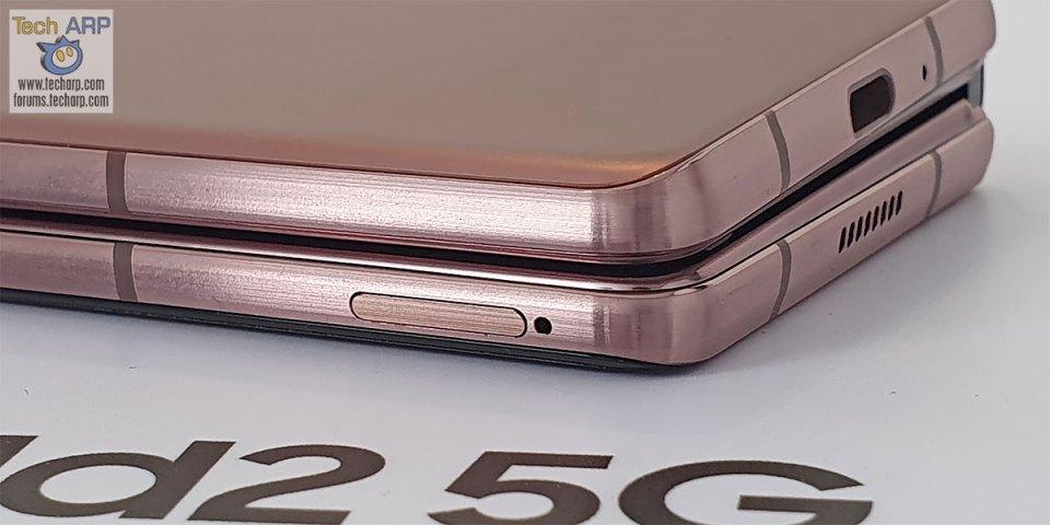 Samsung Galaxy Z Fold2 SIM tray