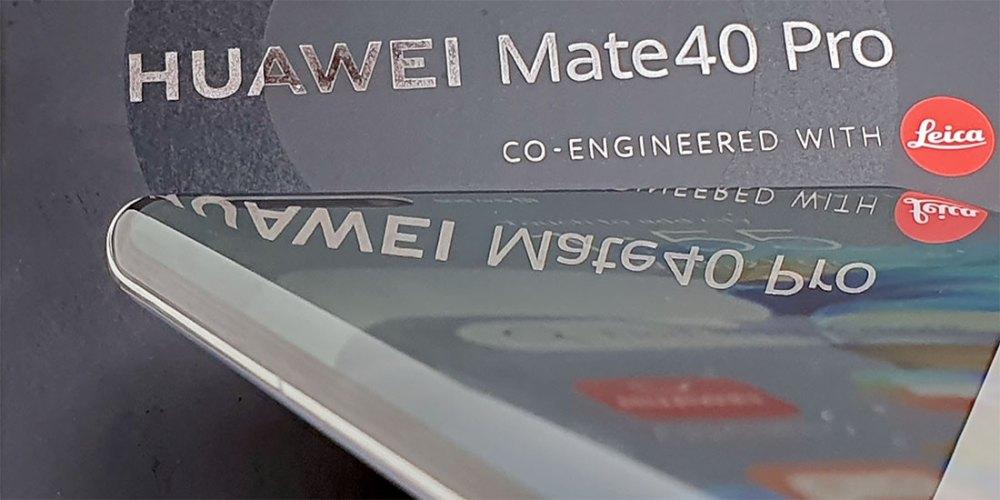 HUAWEI Mate 40 Pro Silver display edge