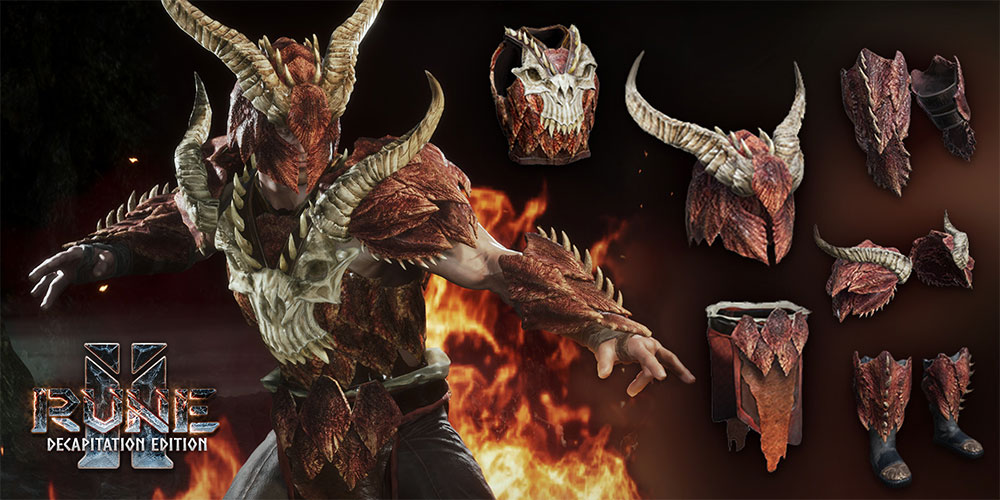 RUNE 2 : Dragon Armour Set is FREE for a Limited Time!